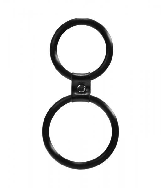 Linx Dual Ring Cock & Ball Ring Black