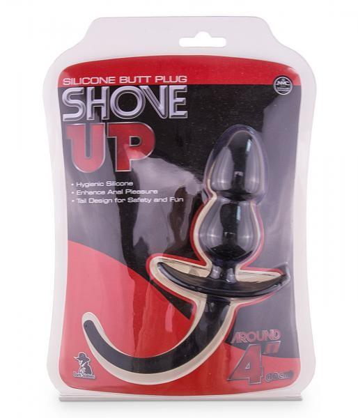 Shove Up Silicone Butt Plug ca. 10 cm Black