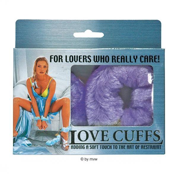 Handschellen mit Pluesch lila