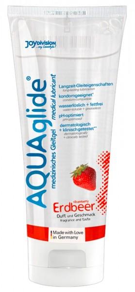 Aquaglide Gleitgel auf Wasserbasis Erdbeere 100ml