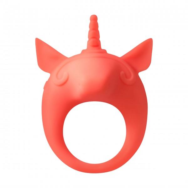 Vibrating cockring MiMi Animals Unicorn Alfie Orange