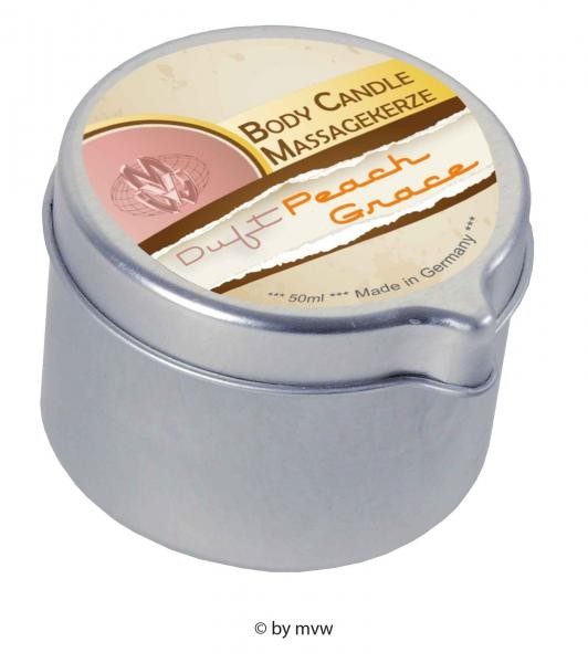 Body Candle Massagekerze Peach Grace 50 ml