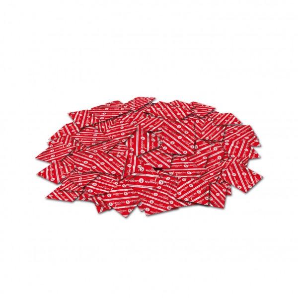 London Rot Kondome mit Erdbeeraroma befeuchtet 1000 Stück