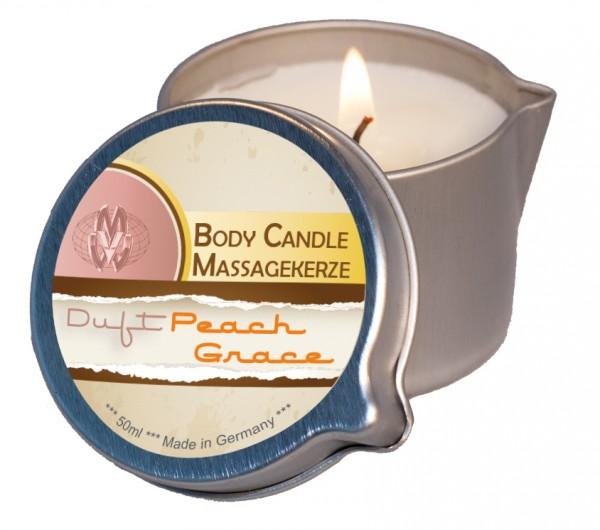 Body Candle Massagekerze Peach Grace 50 ml
