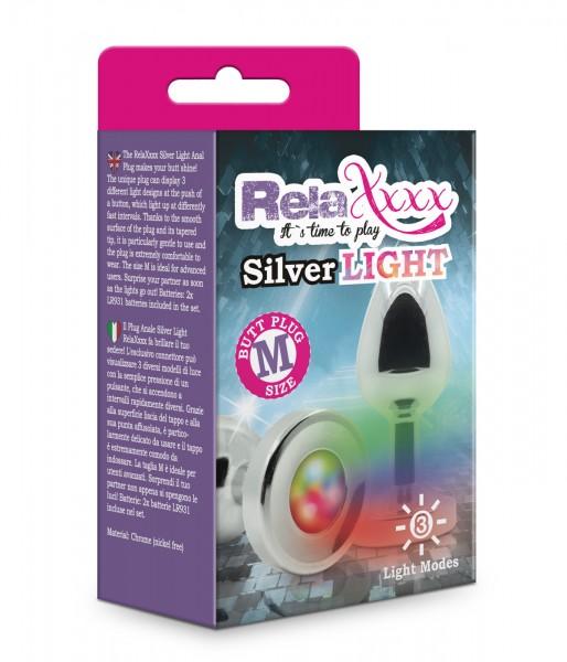 RelaXxxx Anal Plug Silver Light Größe M
