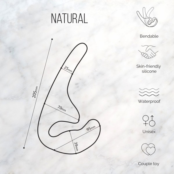 Strapless strap-on Natural Seduction Black