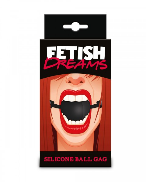 Fetish Dreams Silikon Ball (Mundknebel) Schwarz