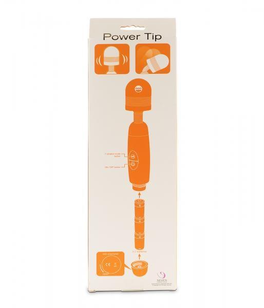 Power Tip Auflegevibrator Wand black