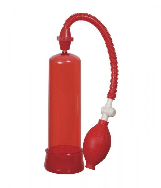 Linx Pumped Up Fire Penis Pump Red