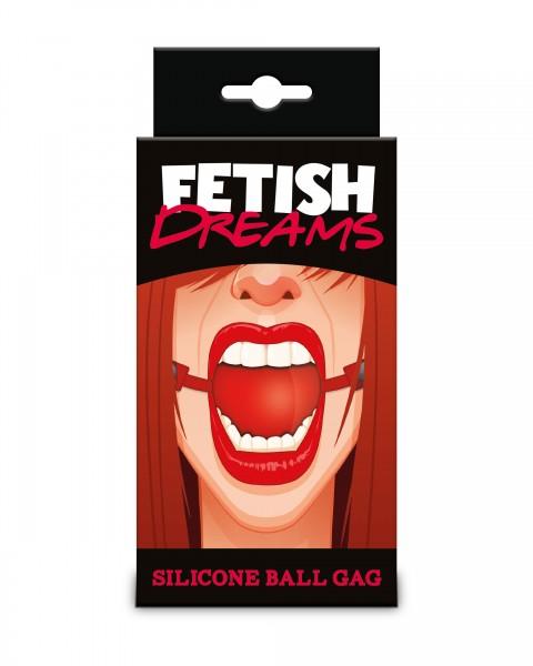 Fetish Dreams Silikon Ball (Mundknebel) Rot