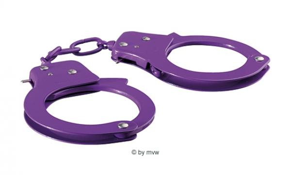 Sex Extra Love Metal Cuffs purple