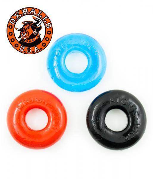 Oxballs Ringer 3er Pack blue red black