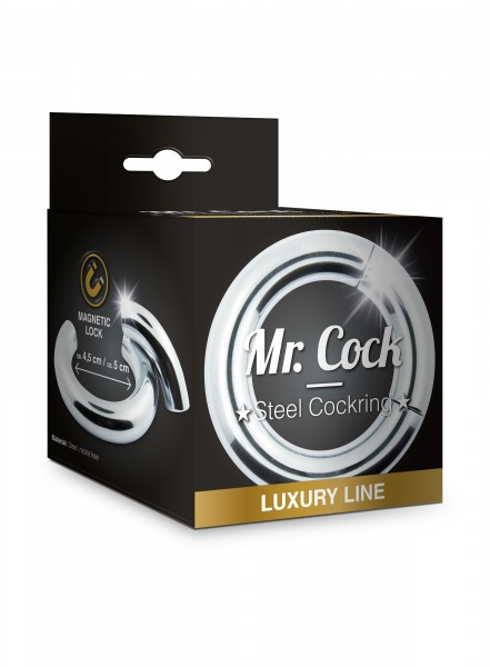 Mr. Cock Luxury Line magnetischer Silikon Penis Ring 50 mm