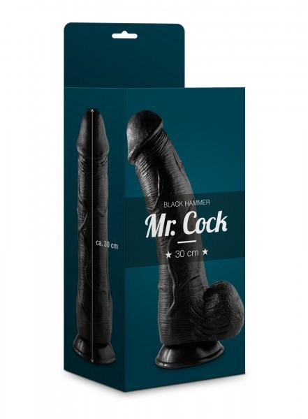 Mr. Cock XXL Dildo Black Hammer 30 cm mit starkem Saugfuß schwarz
