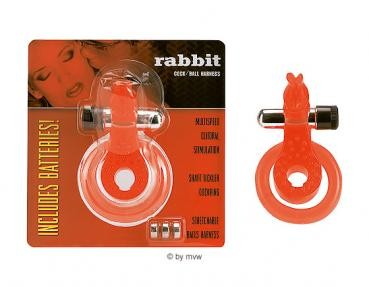 Rabbit Cock / Ball Ring Red