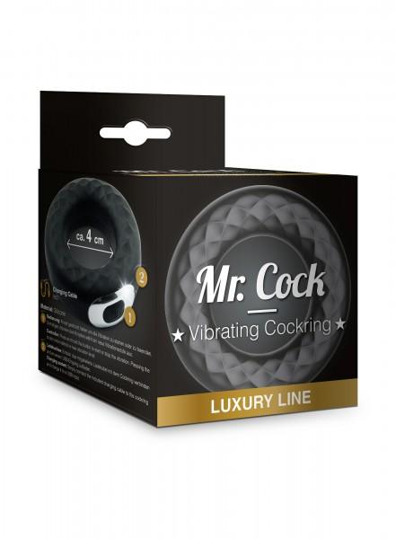 Mr. Cock Luxury Line Vibrierender Silikon Penis Ring 40mm