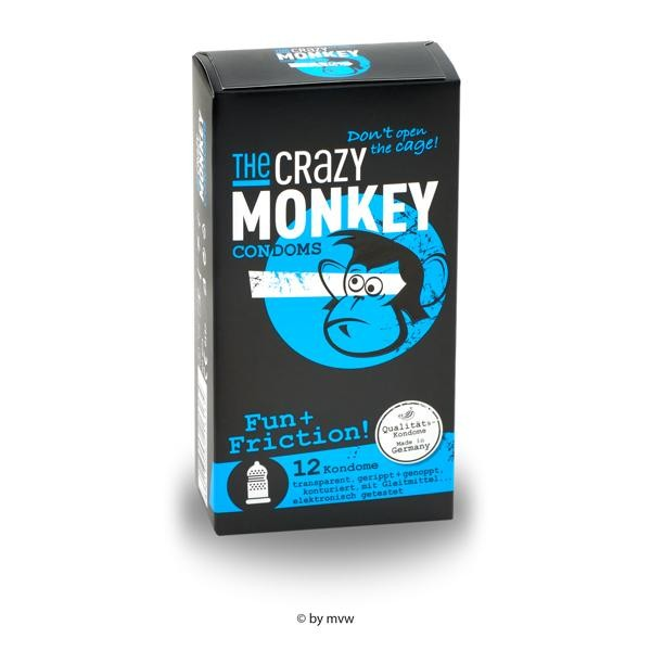 The Crazy Monkey Condoms Fun+Friction 12 stück