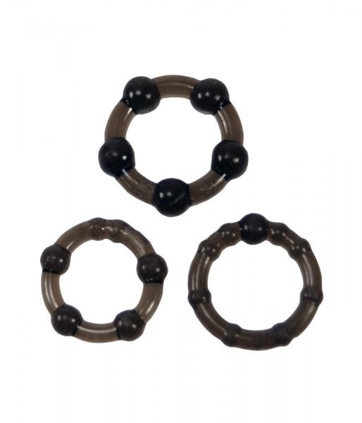 Linx Easy Squeeze Cock Ring Set Black