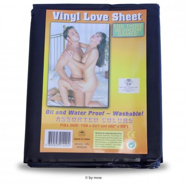 Bettlaken 158x227cm Vinyl schwarz