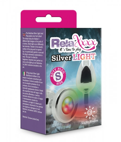 RelaXxxx Anal Plug Silver Light Größe Klein