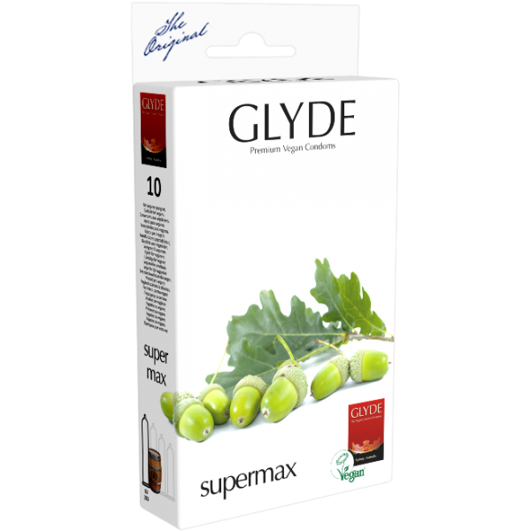 Glyde Supermax Kondome Vegan 10er