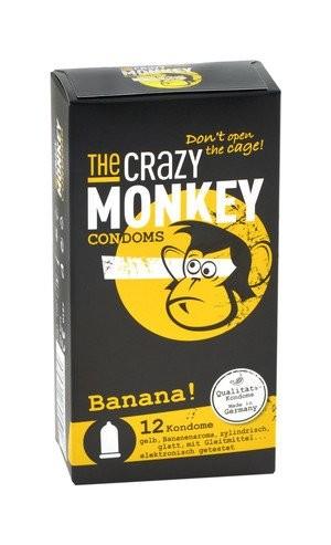 The Crazy Monkey Condoms Banana 12 stück