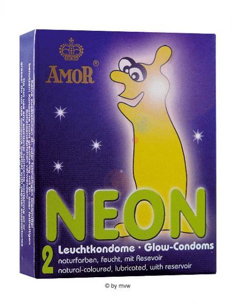 Amor Neon Leuchtkondome 2 Stk.