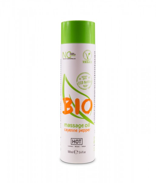 HOT Bio veganes Massage Öl Cayenn Pfeffer 100ml